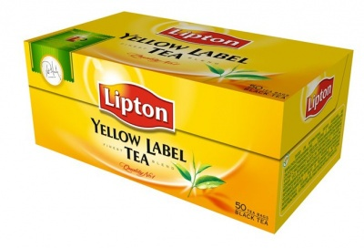 "Fekete tea, 50x2 g, LIPTON ""Yellow label"""