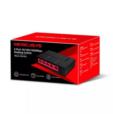 "Switch, 5 port, 10/100/1,000 Mbps, gigabit, MERCUSYS ""MS105G"""